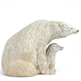 Sculpture animalière en céramique