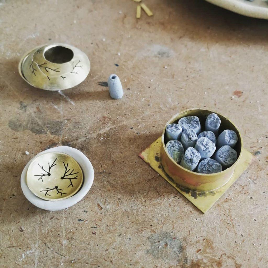 Bijoux Céramique : sculpture métal et porcelaine
